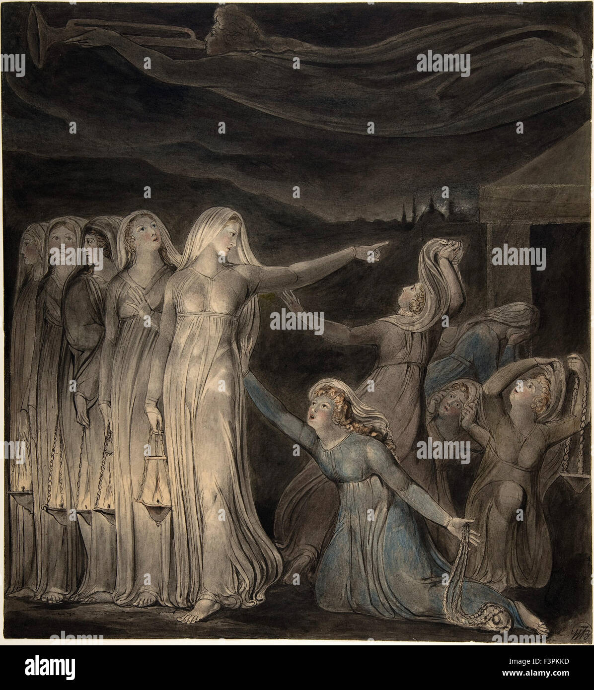 William BLake - The Parable of the Wise and Foolish Virgins - Stock Image