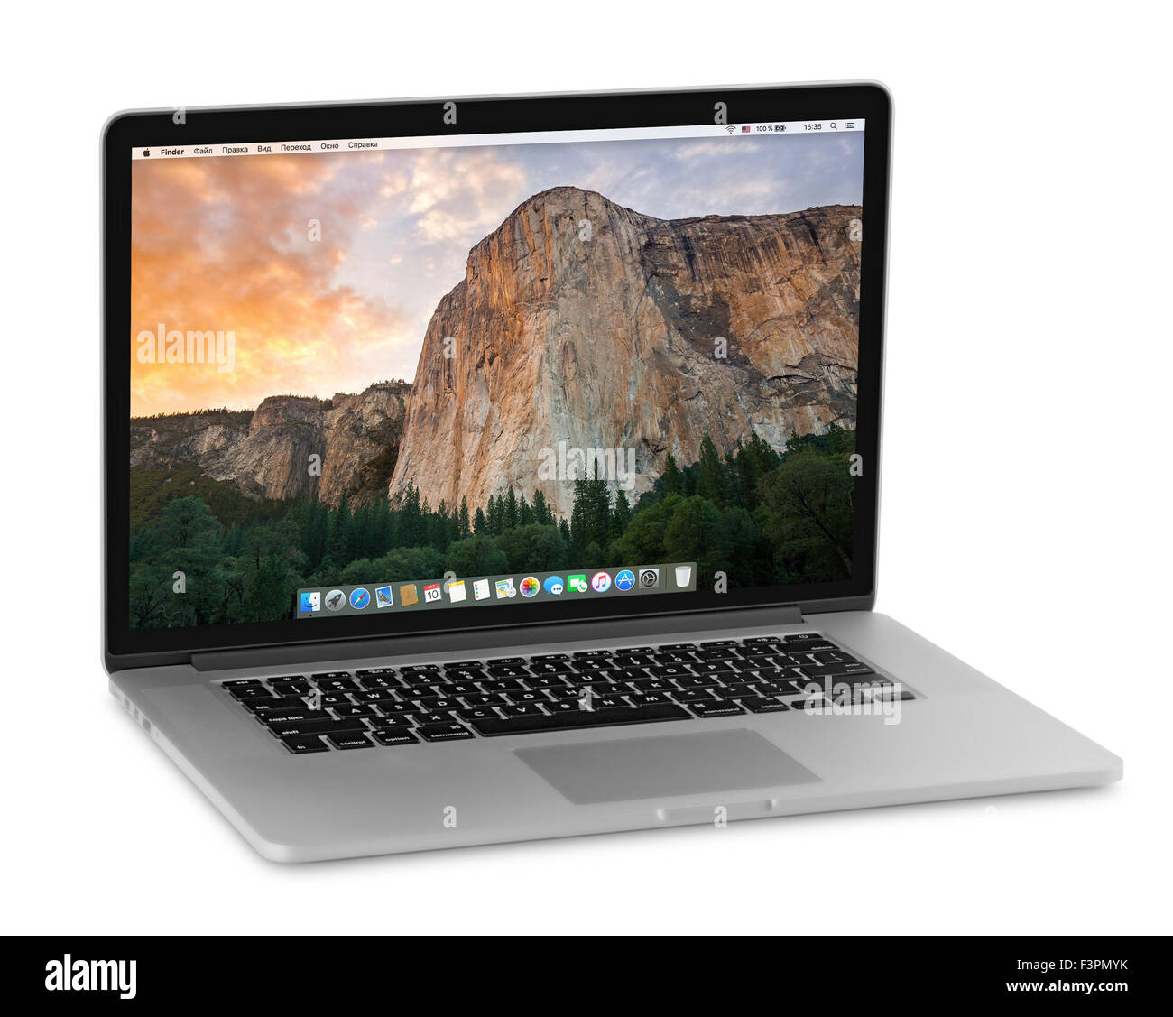 MacBook Pro Retina is a laptop developed by Apple Inc. - Stock Image