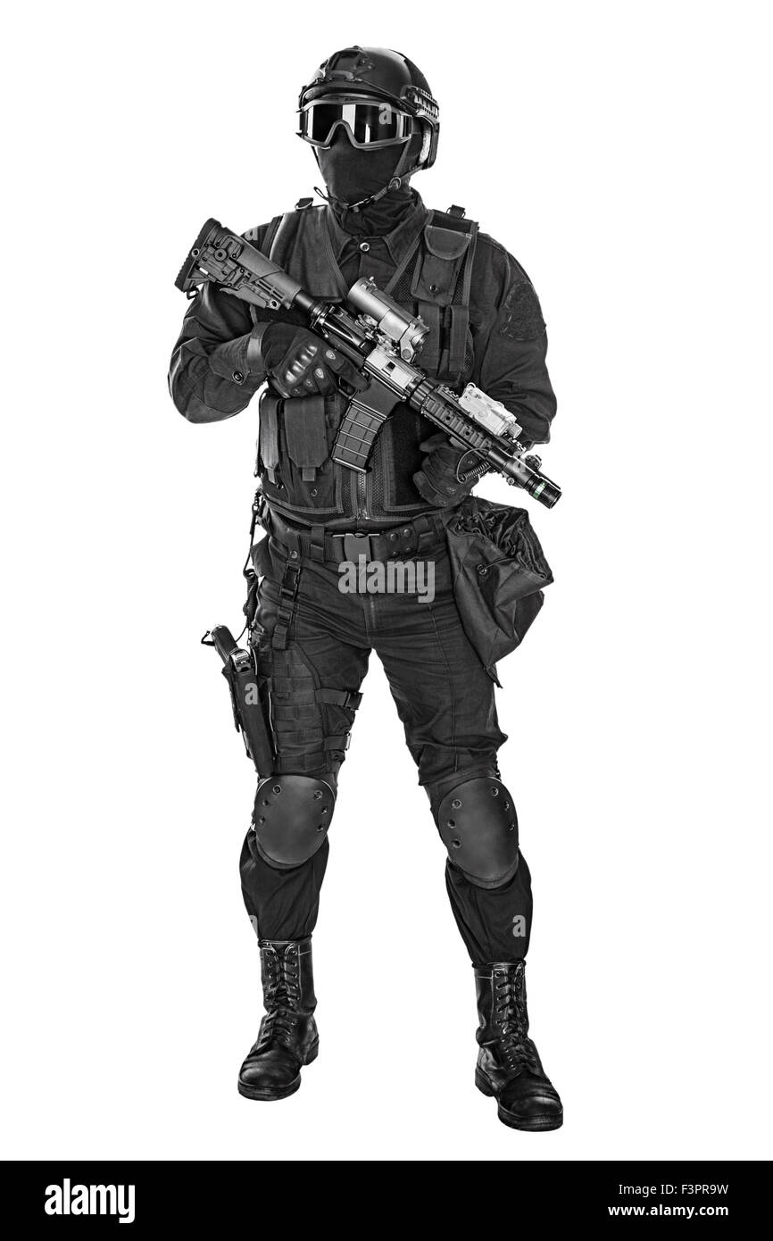 police officer SWAT - Stock Image