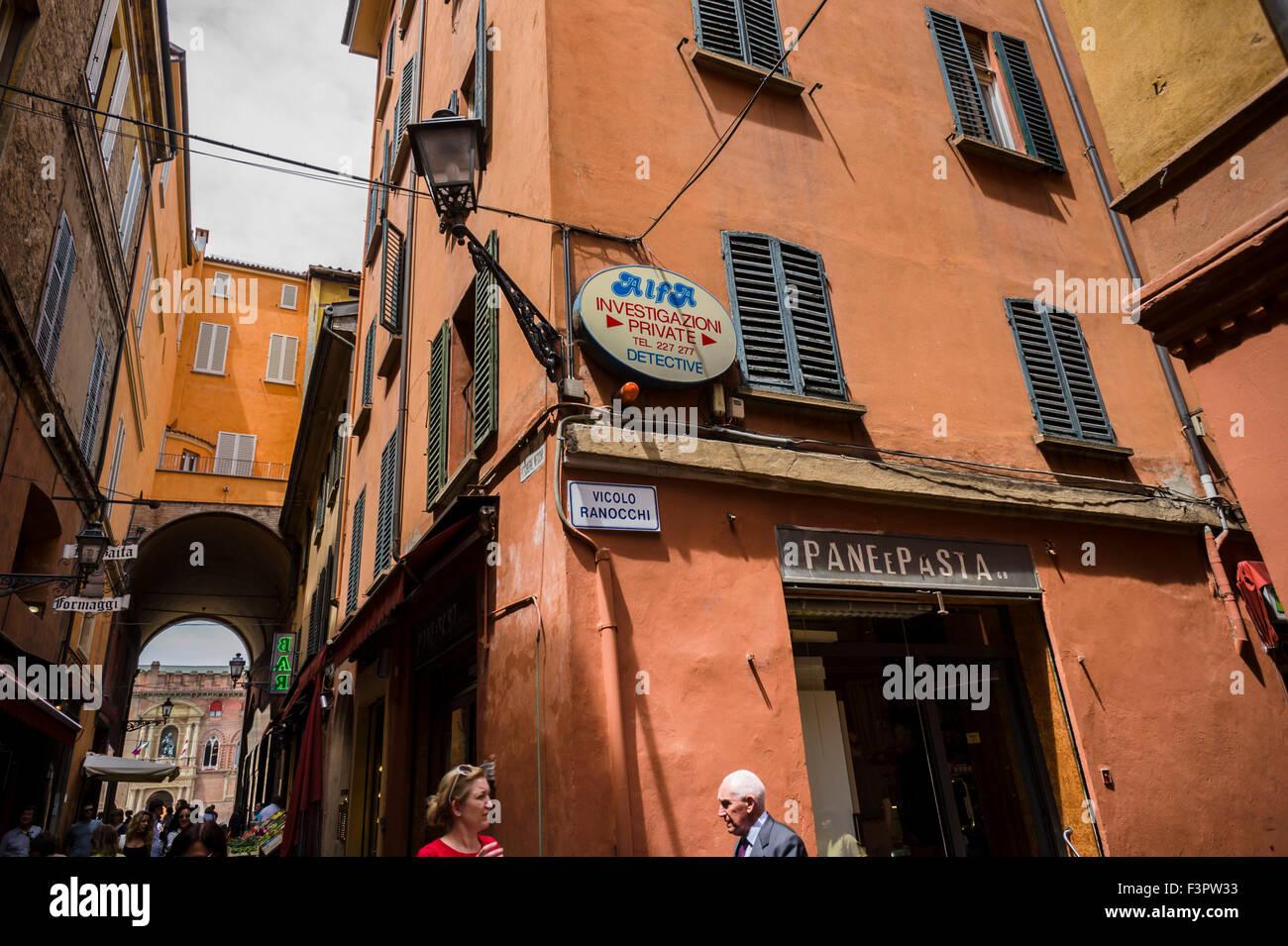 Italy, Emilia-Romagna region, Bologna - private detective agency. - Stock Image