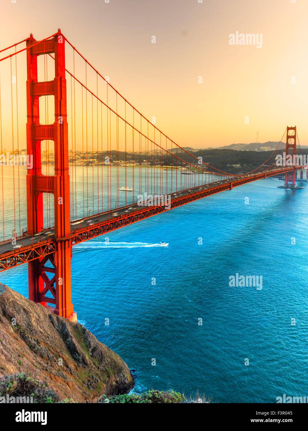 Golden Gate Bridge, San Francisco, California, USA. - Stock Image