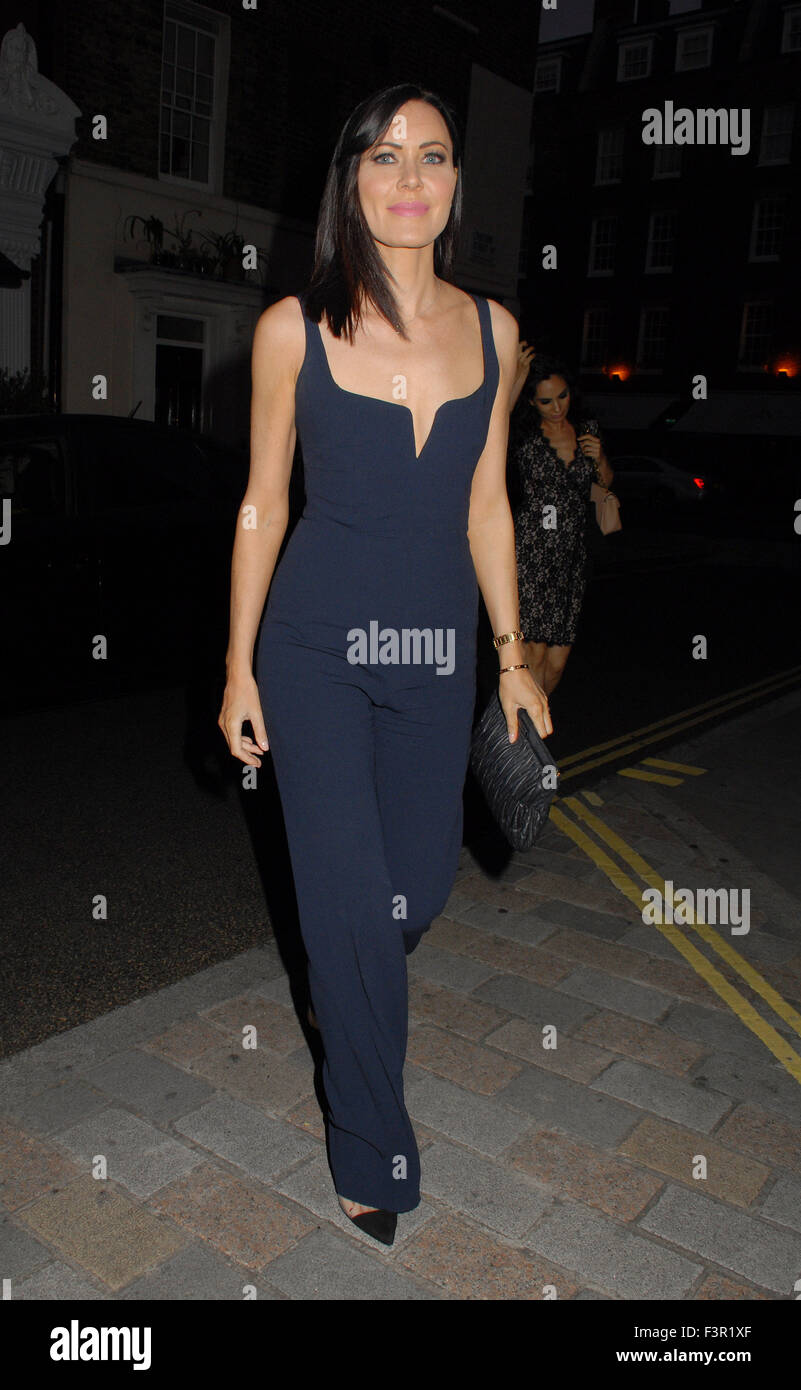 Linzi Stoppard at the Chiltern Firehouse  Featuring: Linzi Stoppard Where: London, United Kingdom When: 10 Aug 2015 - Stock Image