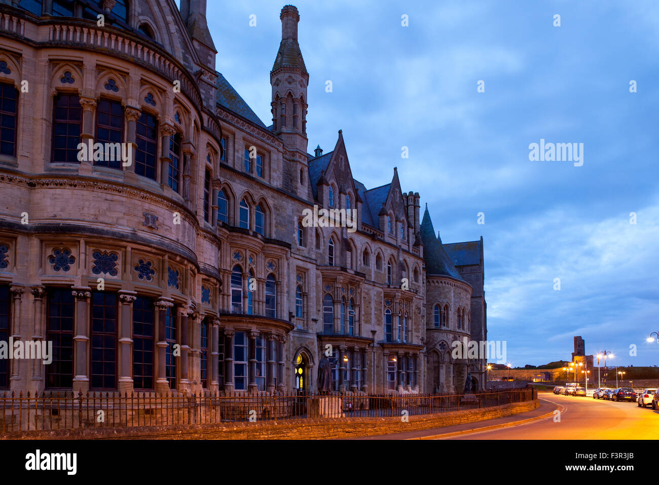 old college Aberystwyth west Wales ceredigion - Stock Image