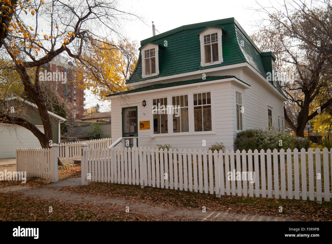 A view of the Marr Residence and Marr Garden, a historic site in Saskatoon, Saskatchewan, Canada. - Stock Image
