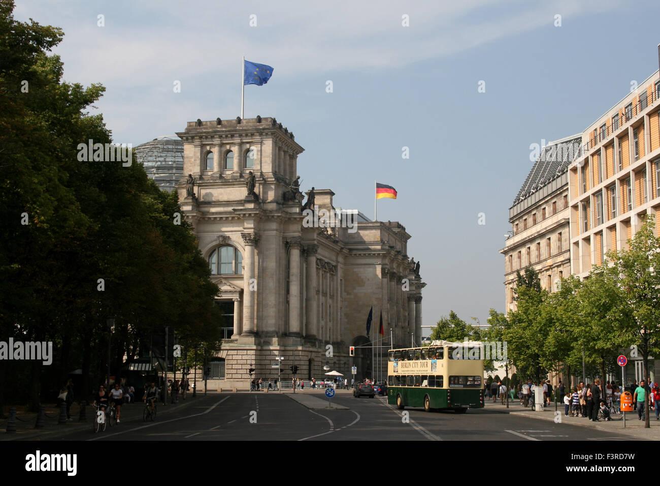 BERLIN BUNDESTAG PARLIAMENT REICHSTAG - Stock Image