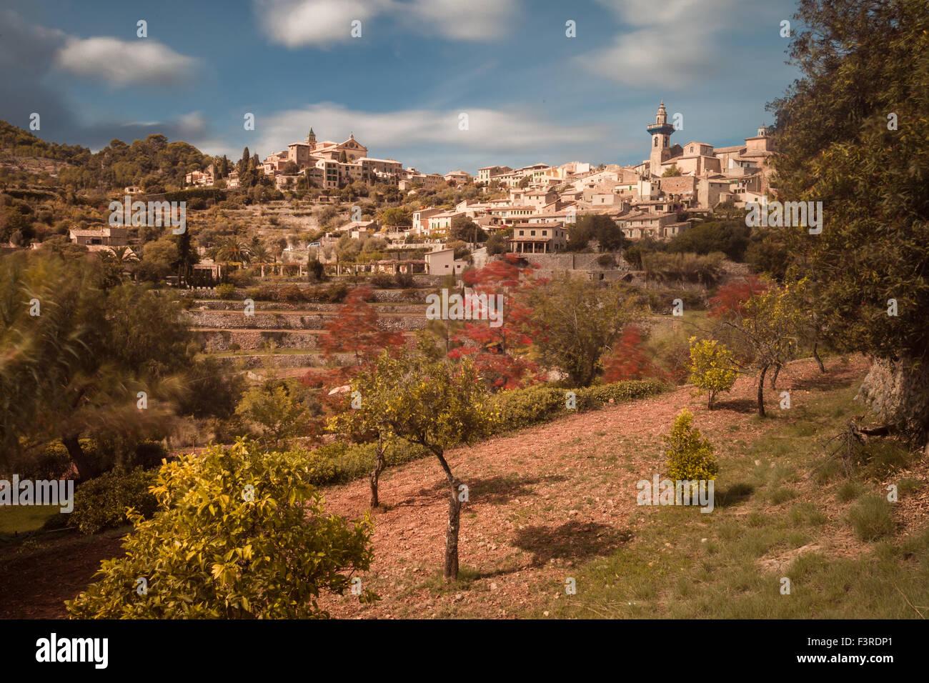 Valldemossa, a village and municipality on the island of Majorca, Spain - Stock Image