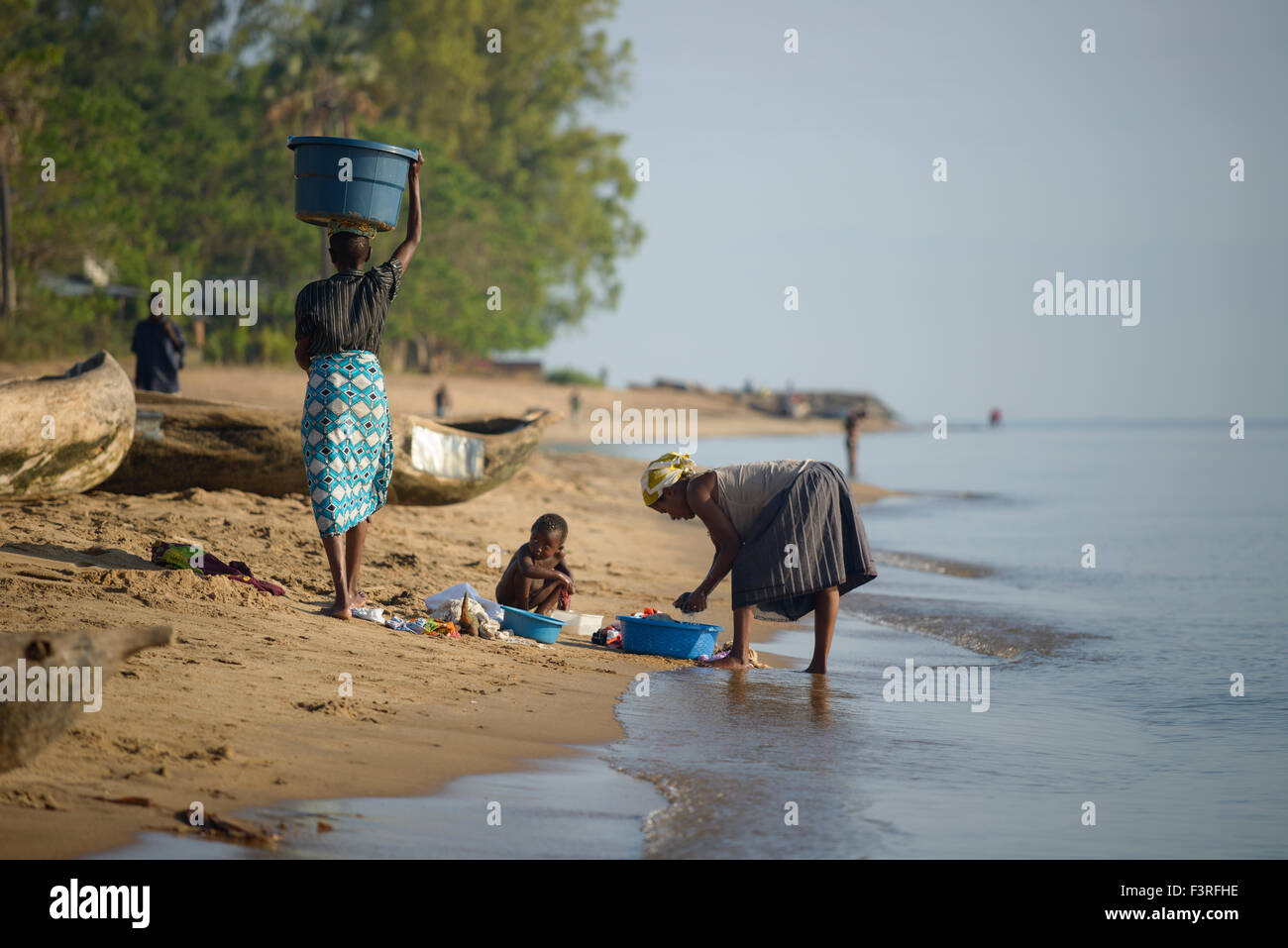 Life at Lake Malawi, Africa - Stock Image