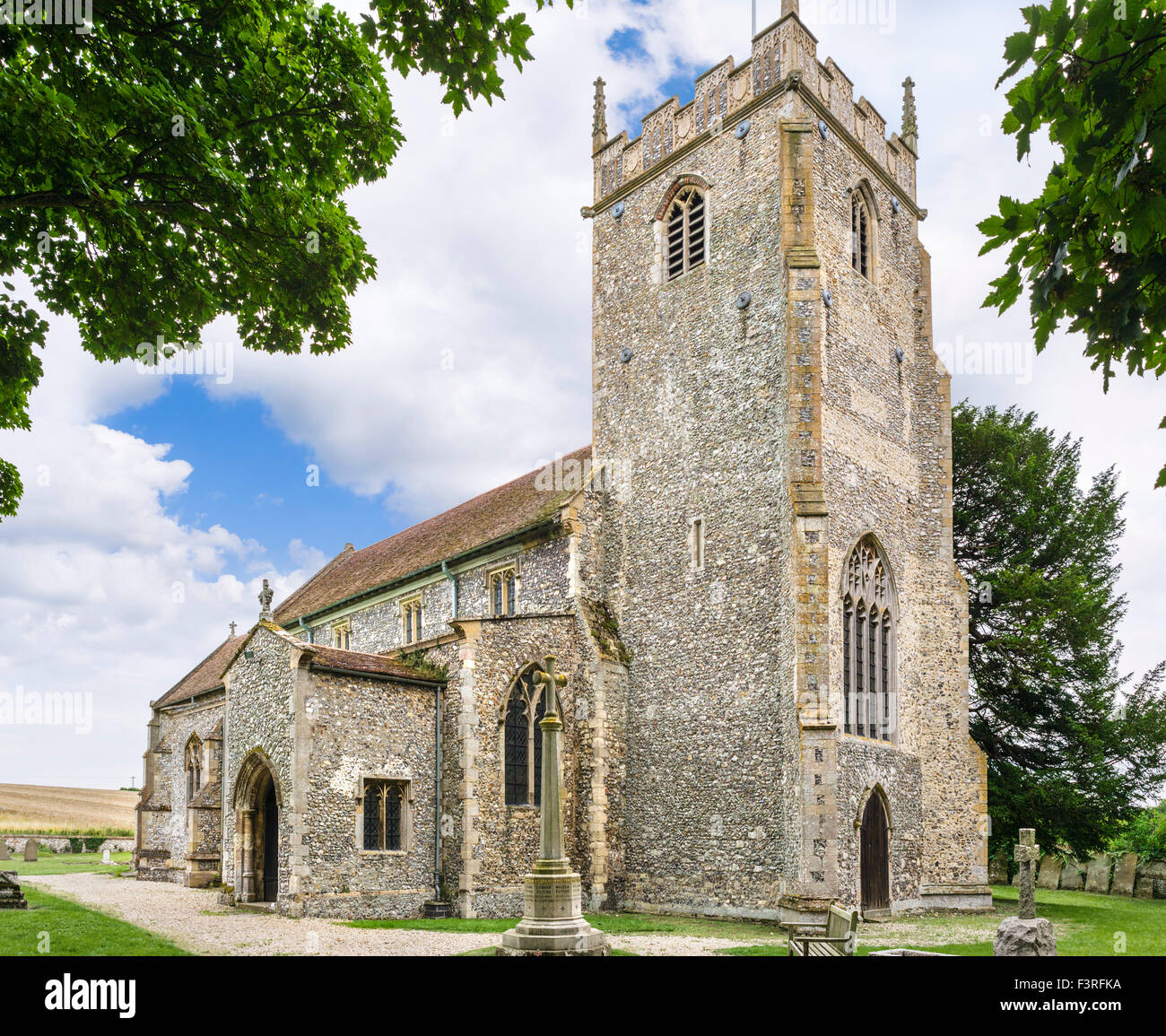 All Saints Church, Burnham Thorpe, Norfolk, UK - Nelson's father was rector & Nelson was born in the village - Stock Image
