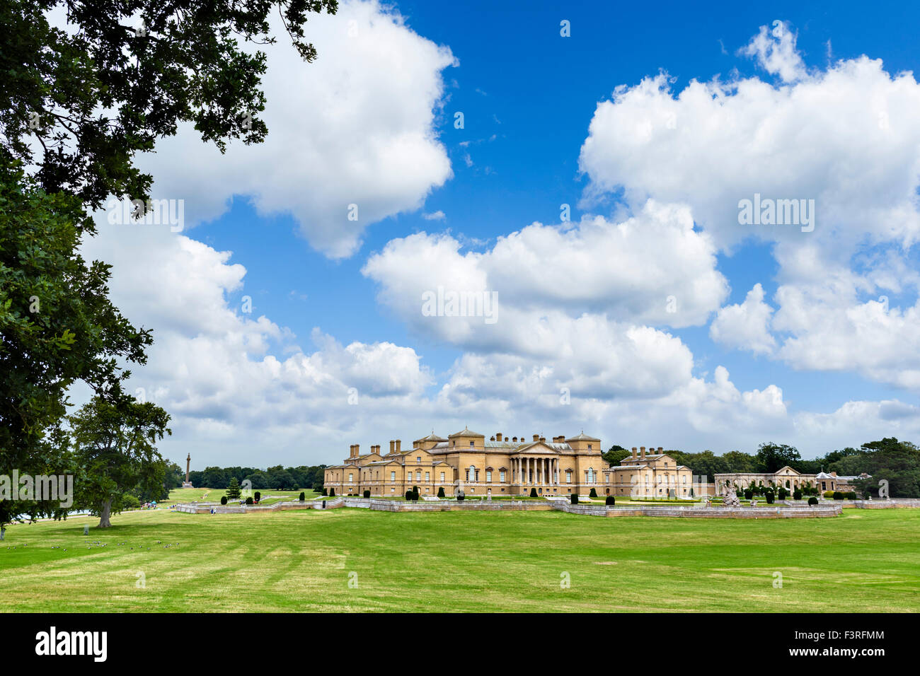 Holkham Hall, an early 18thC Palladian country house in Holkham, Norfolk, England, UK - Stock Image