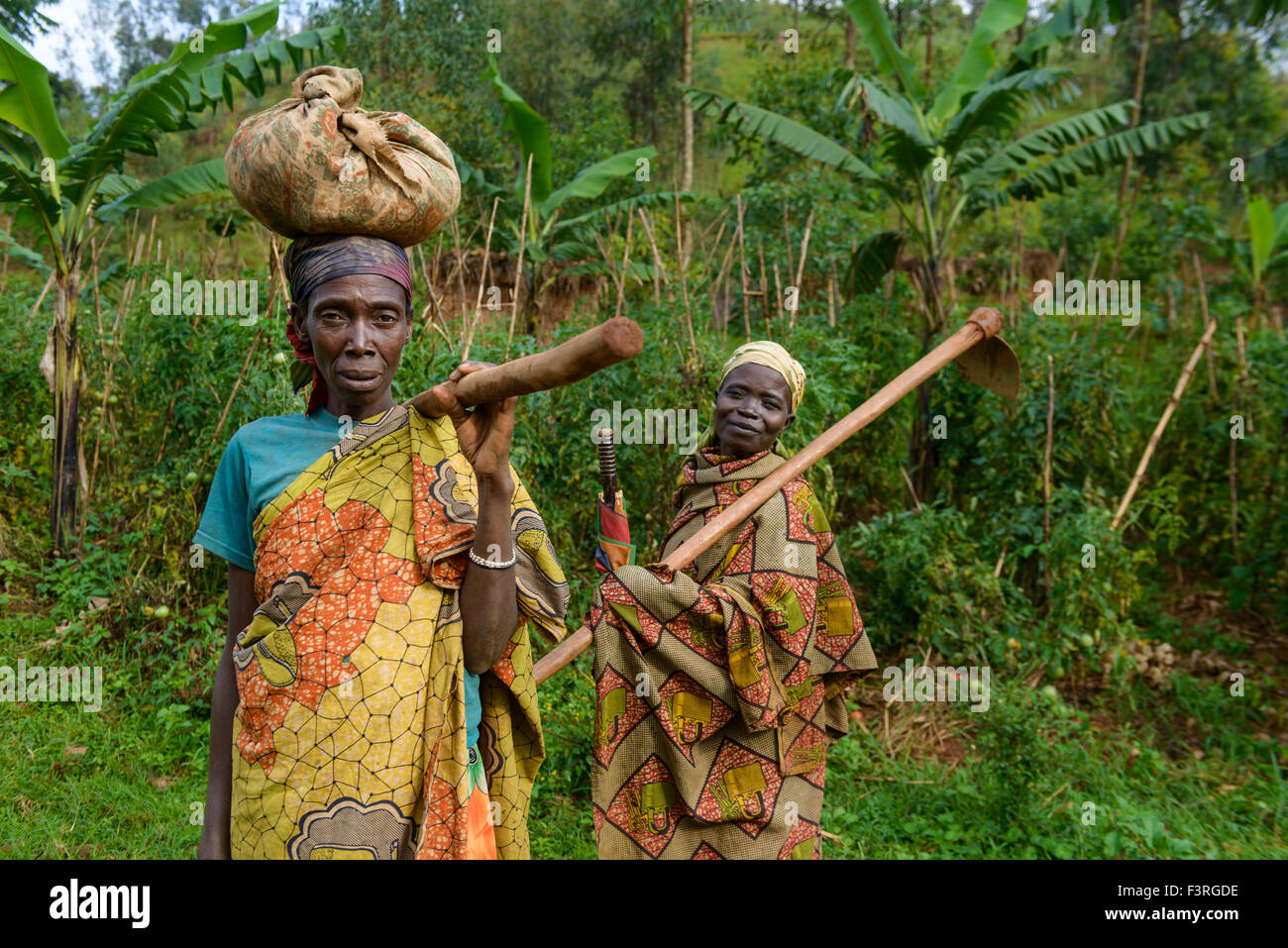 Women With Traditional Clothes Burundi Africa Stock