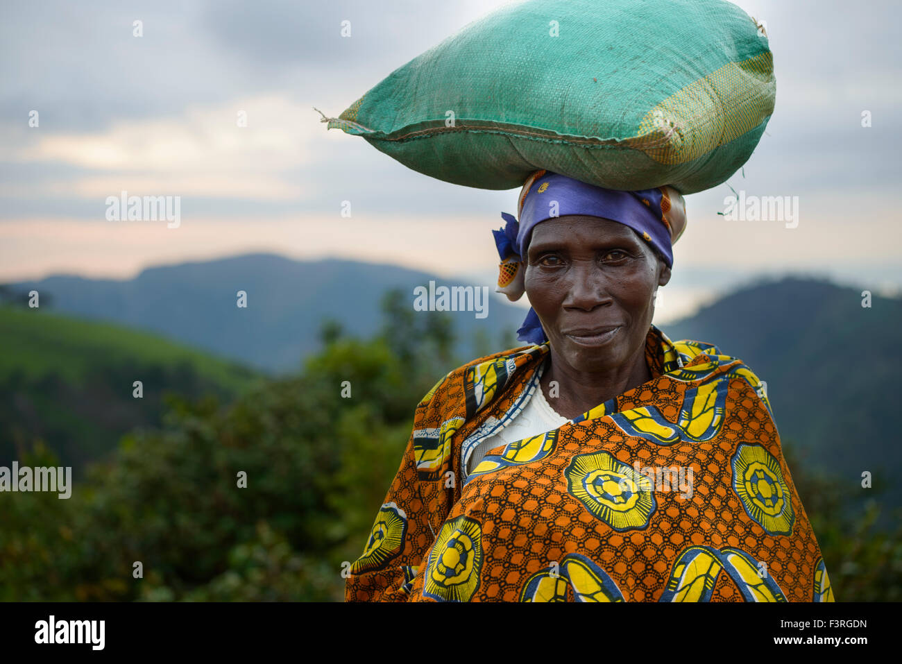 Woman with traditional clothes, Burundi, Africa - Stock Image