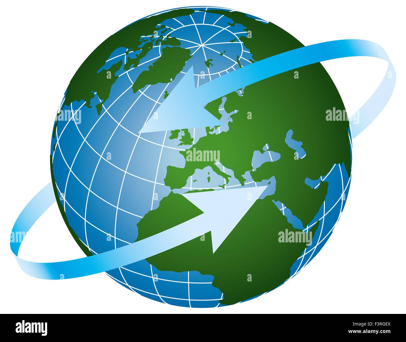 Global logo - Stock Image