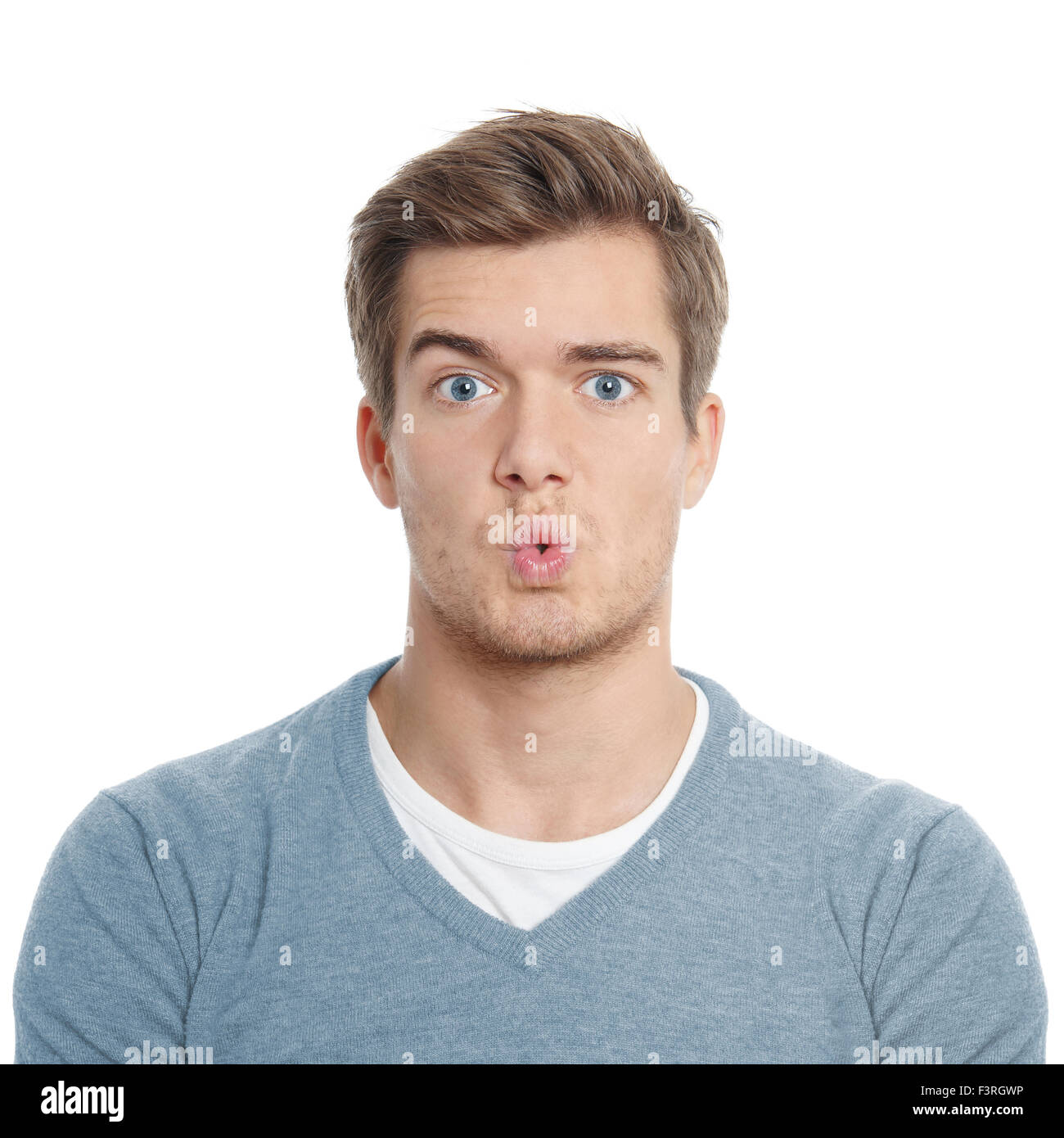 surpised young man - Stock Image