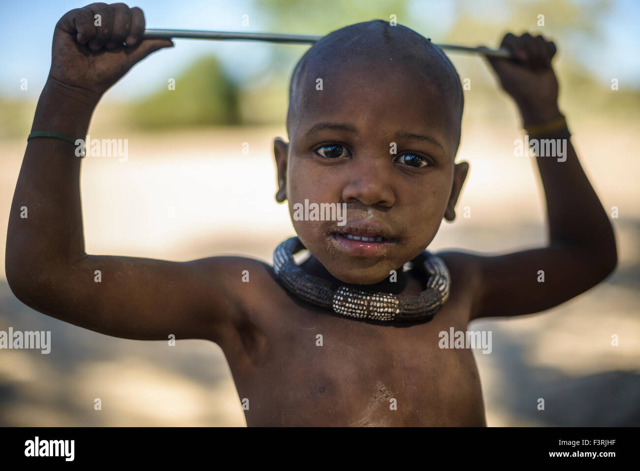 Boy of the Himba tribe, Kaokoland, Namibia, Africa - Stock Image