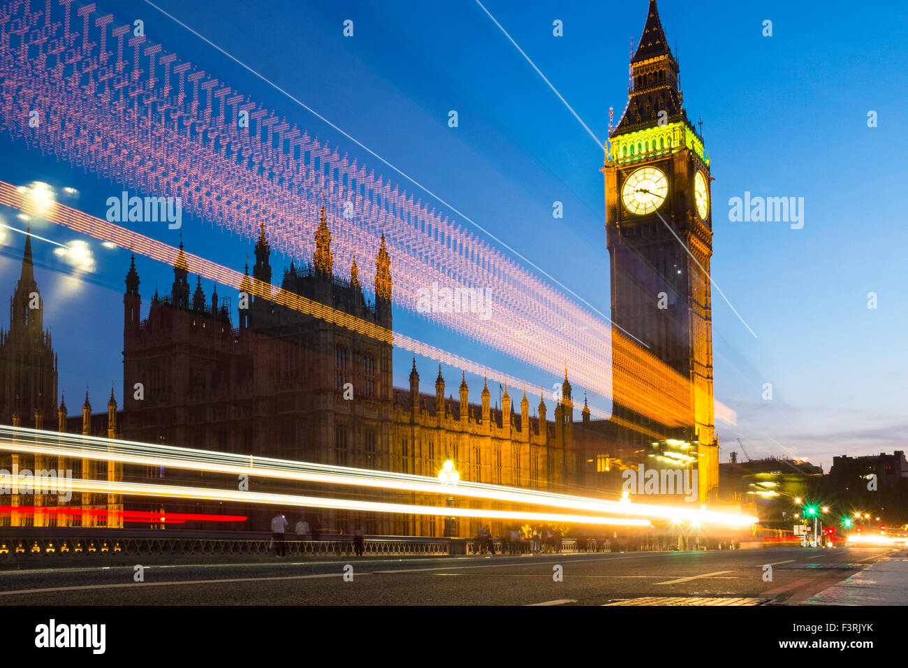 Big Ben and Palace of Westminster, London, United Kingdom - Stock Image