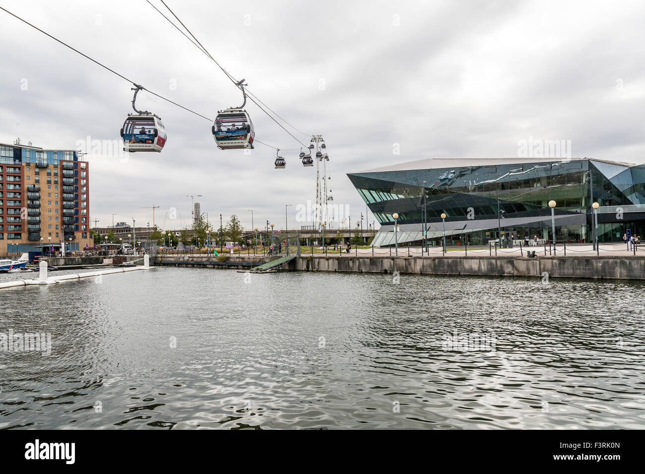 Cable car between Greenwich and Docklands, London, United Kingdom - Stock Image