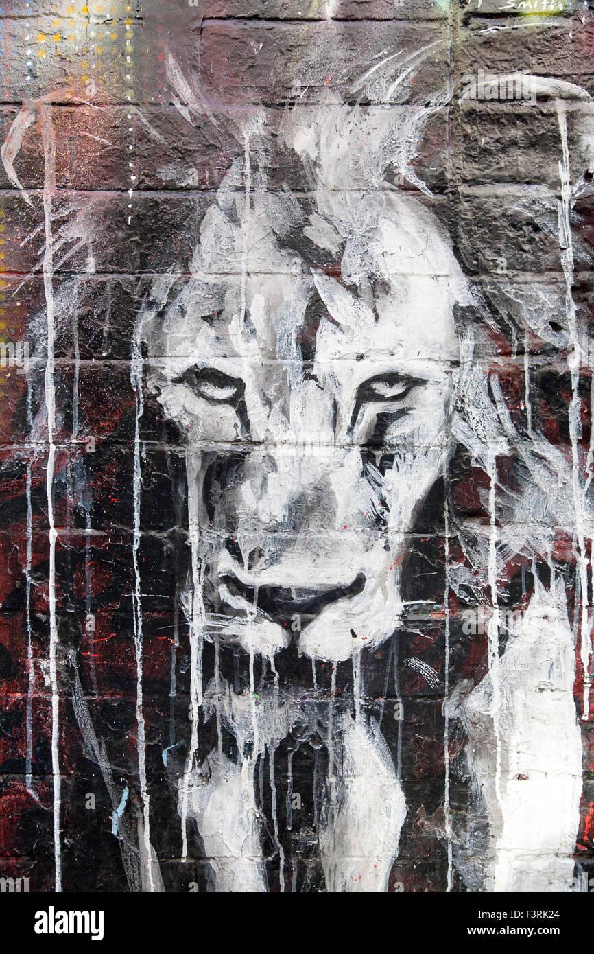 Street Art, East End, London, United Kingdom - Stock Image