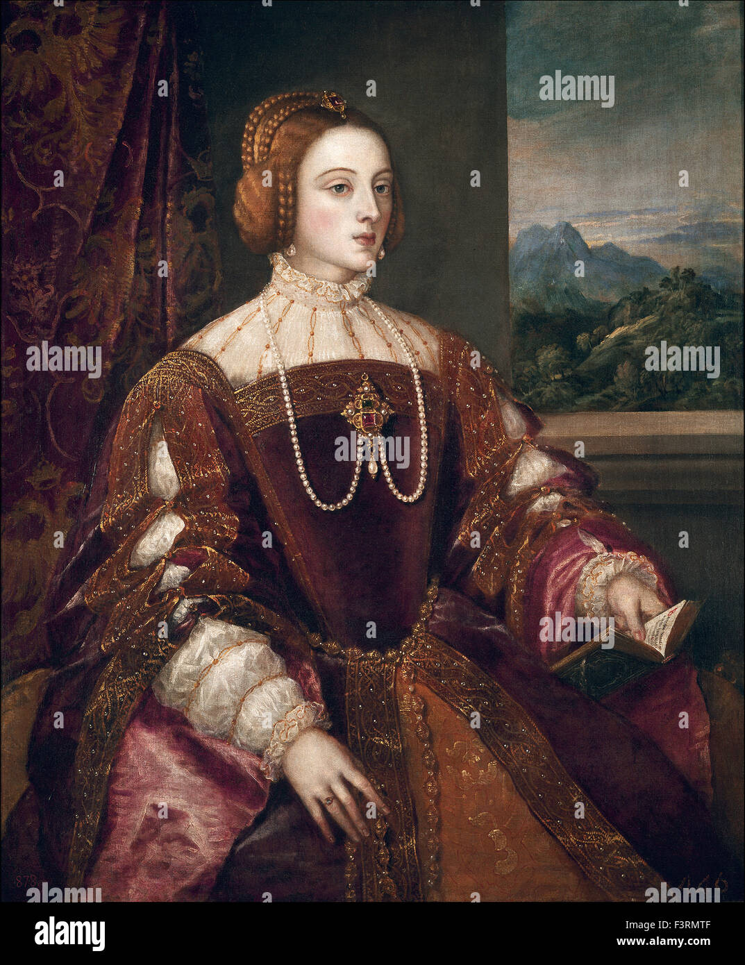 Tiziano Vecellio - Titian - Empress Isabel of Portugal - Stock Image
