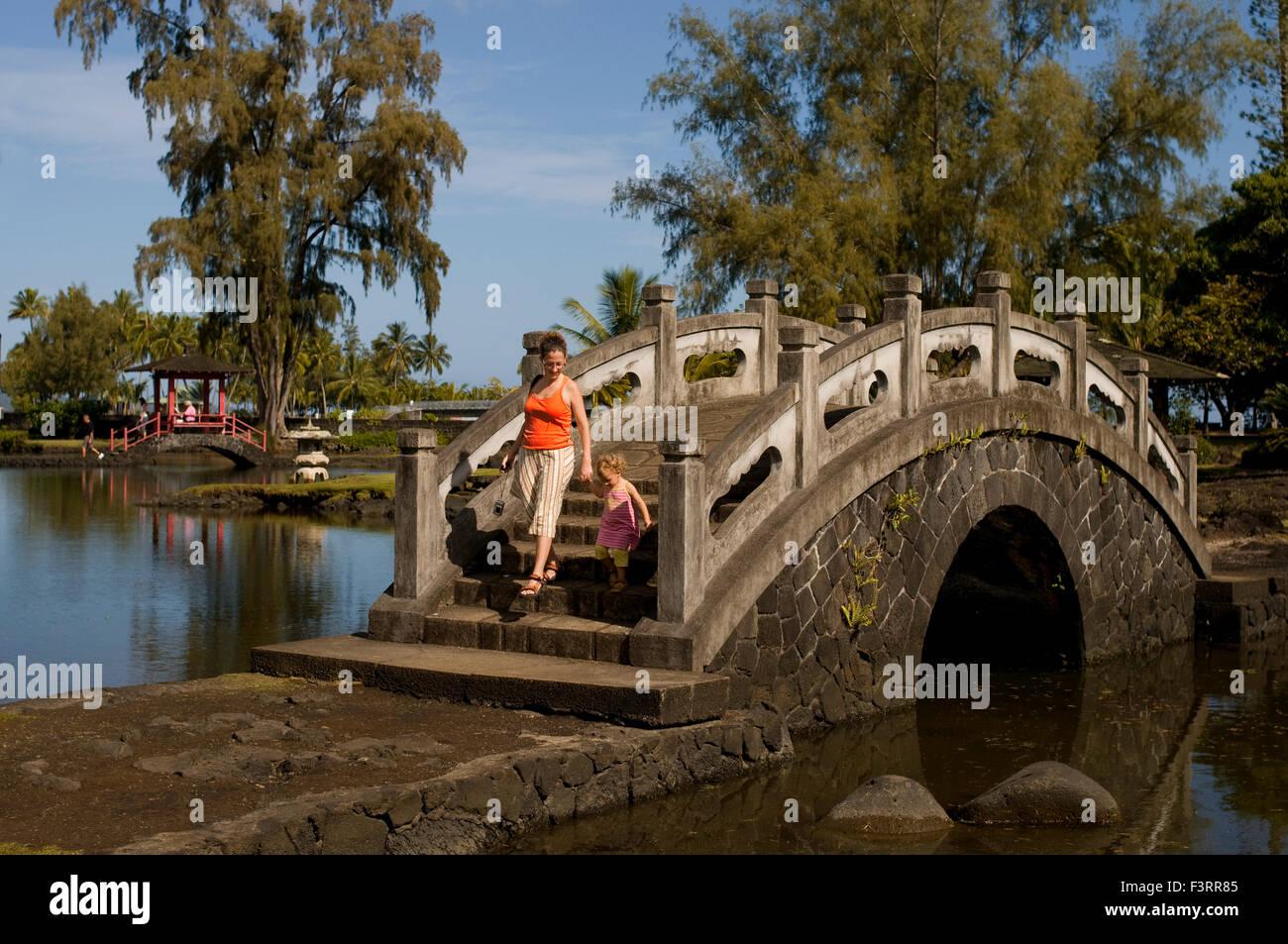 Japanese-style garden Lili\'uokalani Park in Hilo. Big Island. Hawaii ...