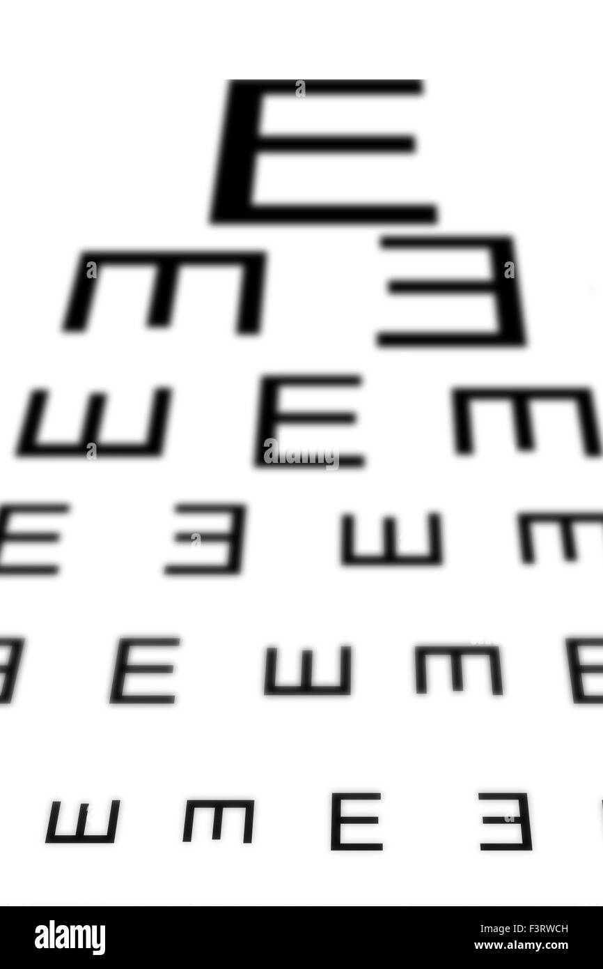 Sight Test Chart Stock Photos Sight Test Chart Stock Images Alamy