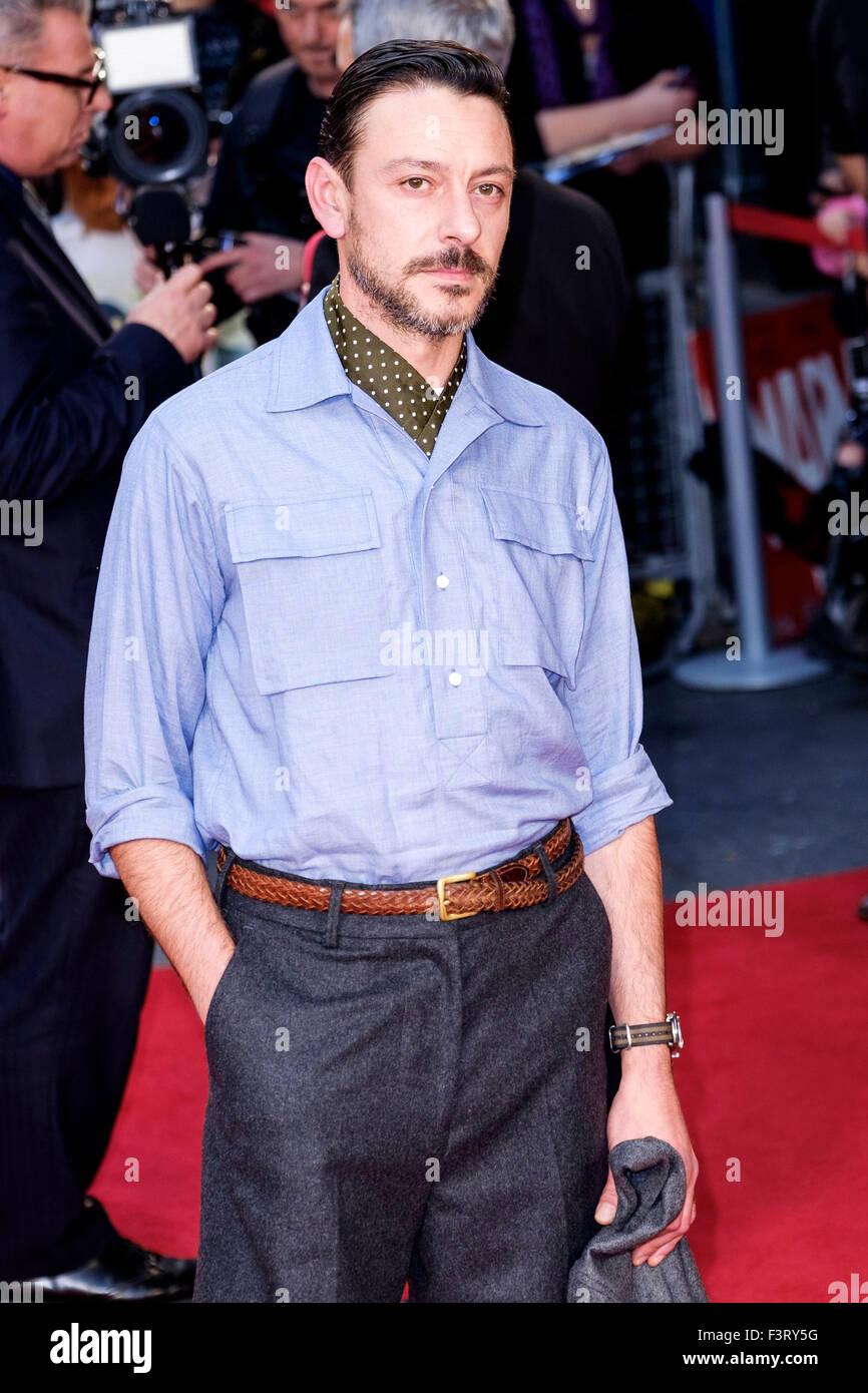 Enzo Cilenti arrives on the red carpet for the London Film Festival screening of High Rise on 09/10/2015 at ODEON - Stock Image
