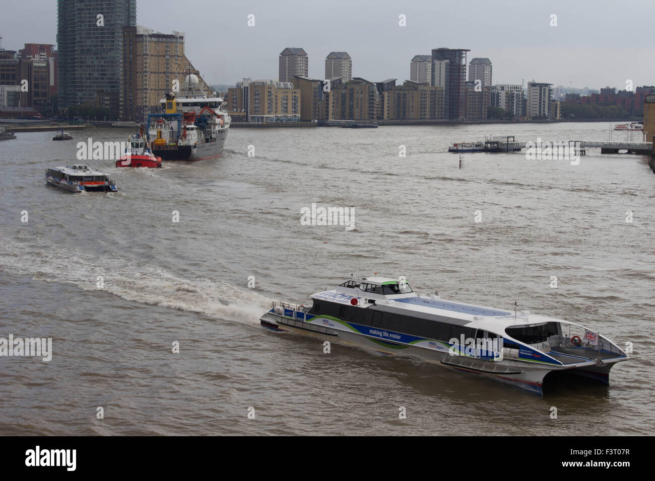 London, UK. 12th October 2015. The National Oceanography Centre's Royal Research Ship (RRS) 'Discovery' - Stock Image