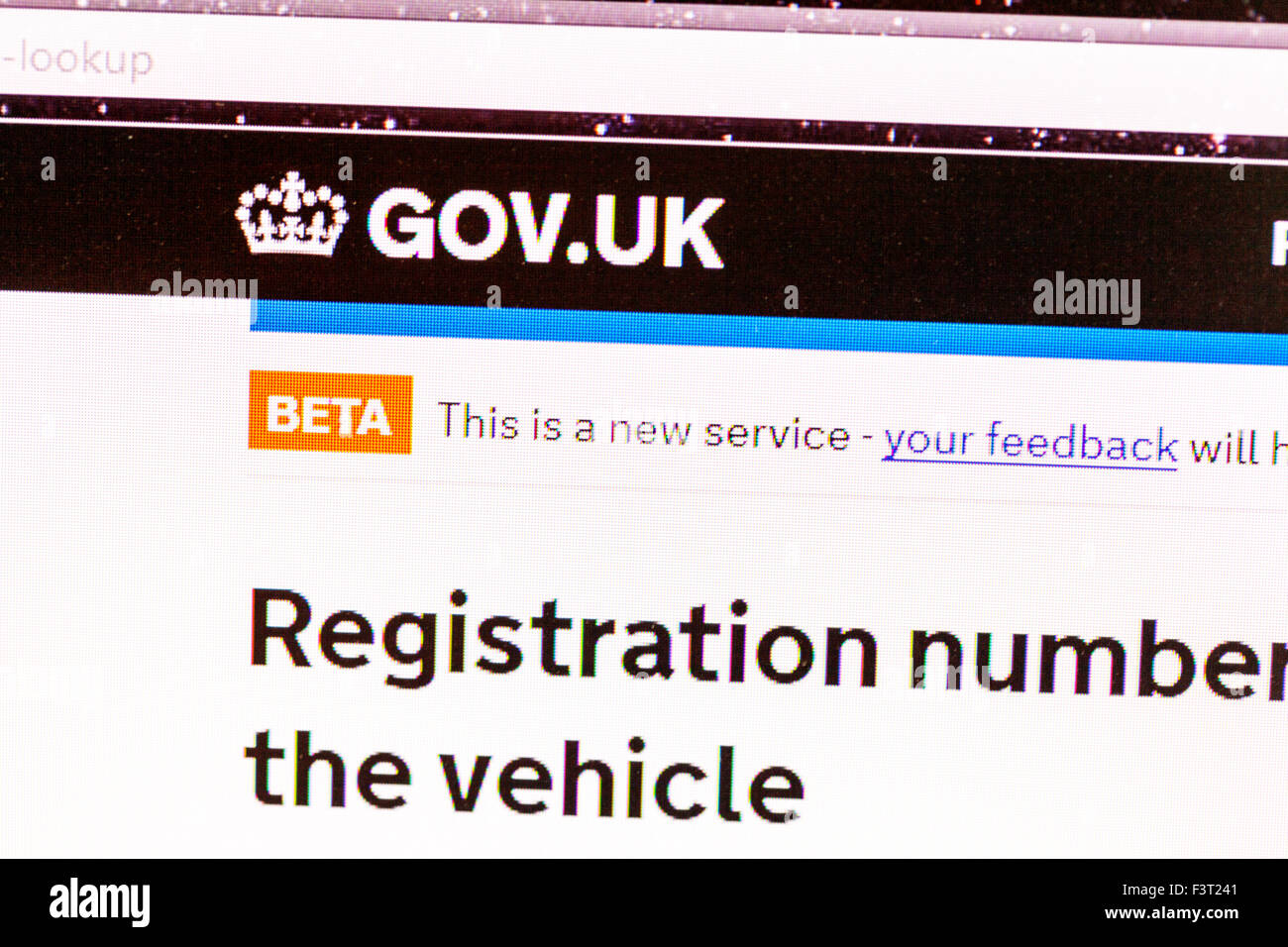 the car registration stock photos the car registration stock images alamy. Black Bedroom Furniture Sets. Home Design Ideas