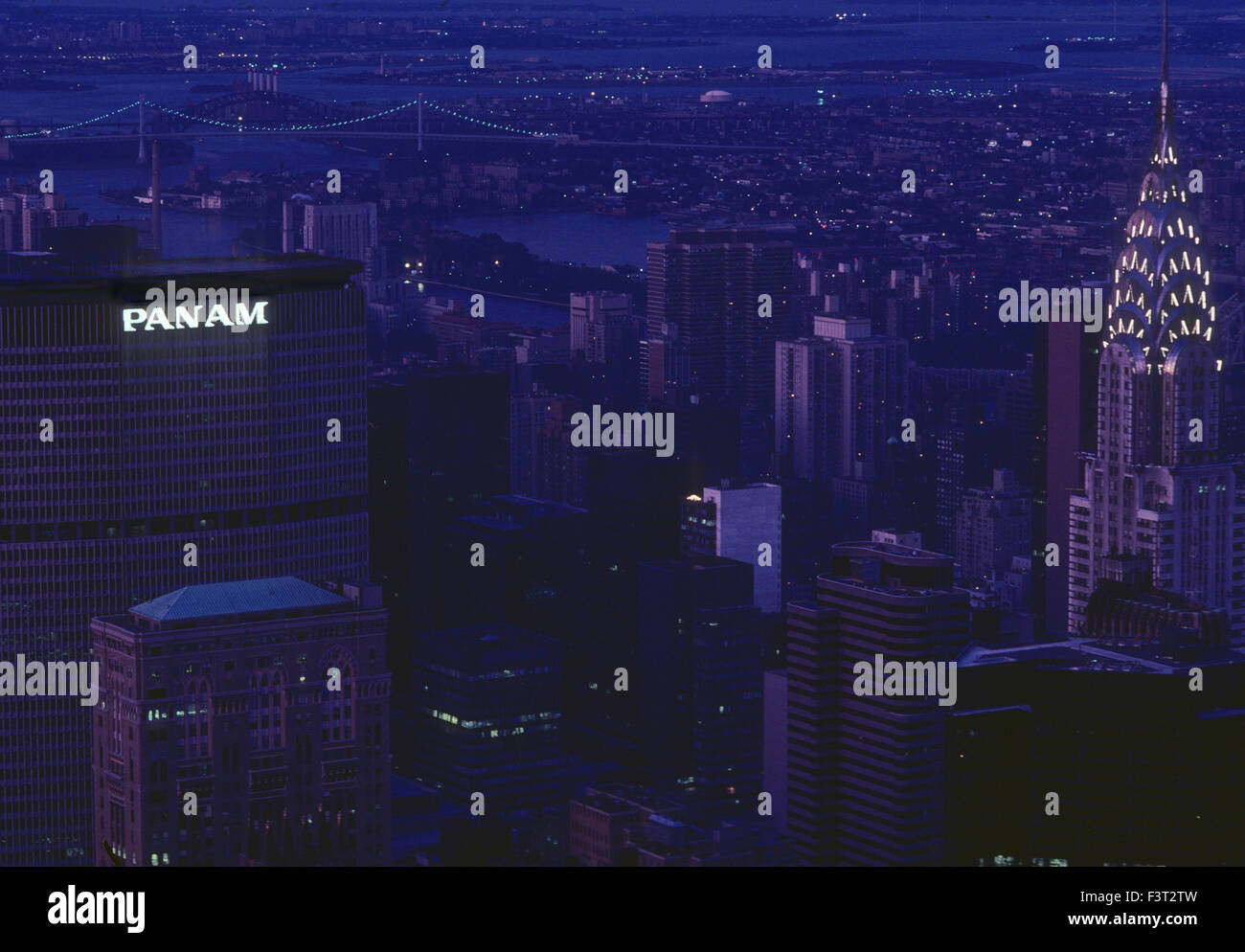 PanAm and Chrysler buildings New York 1981 - Stock Image