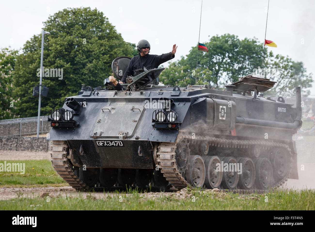 Warrior APC (armoured personnel carrier), The Tank Museum, Bovington, Dorset - Stock Image