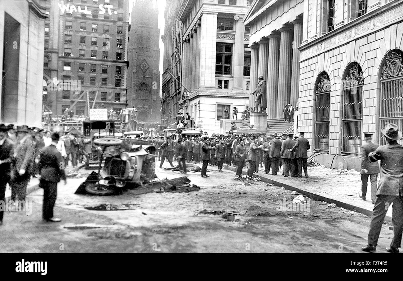 WALL STREET BOMBING 16 September 1920 - Stock Image