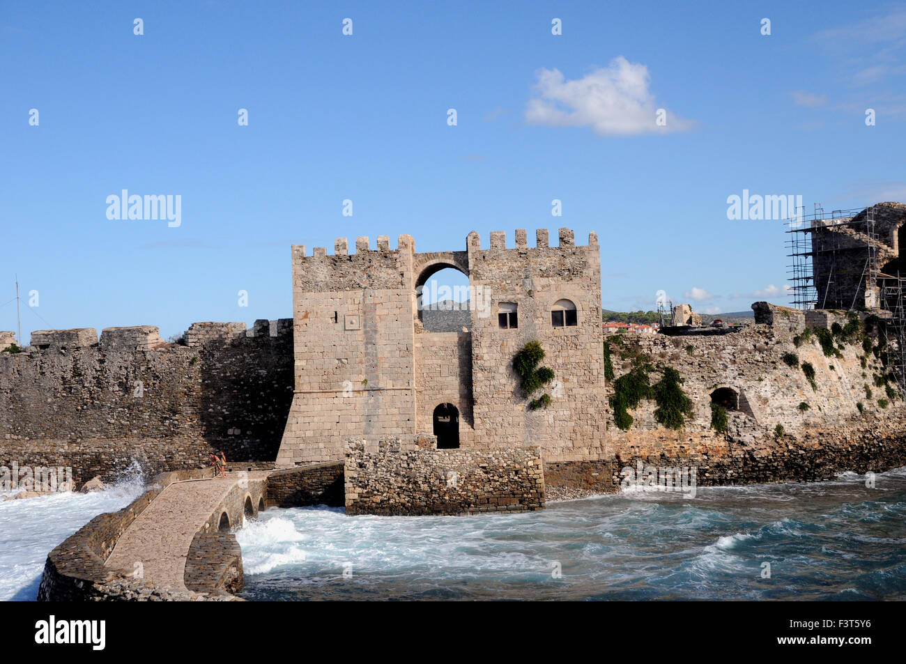 The Seagate at Methoni Castle in the Greek Peloponnese  From