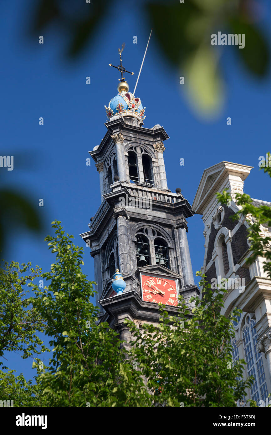 Westerkerk (Western Church) is a Dutch Protestant church in central Amsterdam in the Netherlands. - Stock Image
