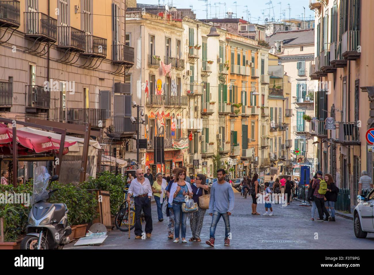 street scene naples italy stock photo 88430344 alamy