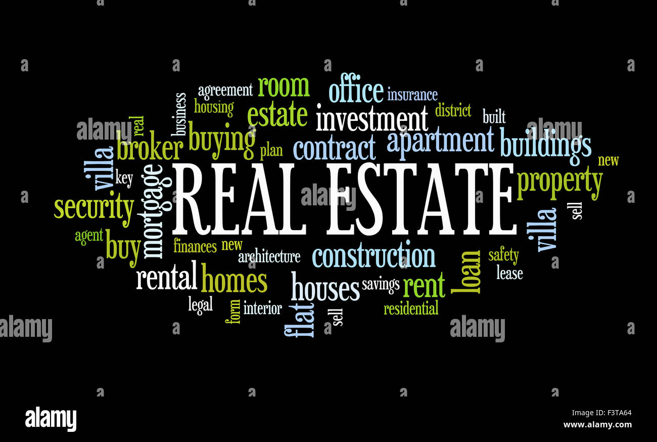 Buying home issues info text word cloud - Stock Image