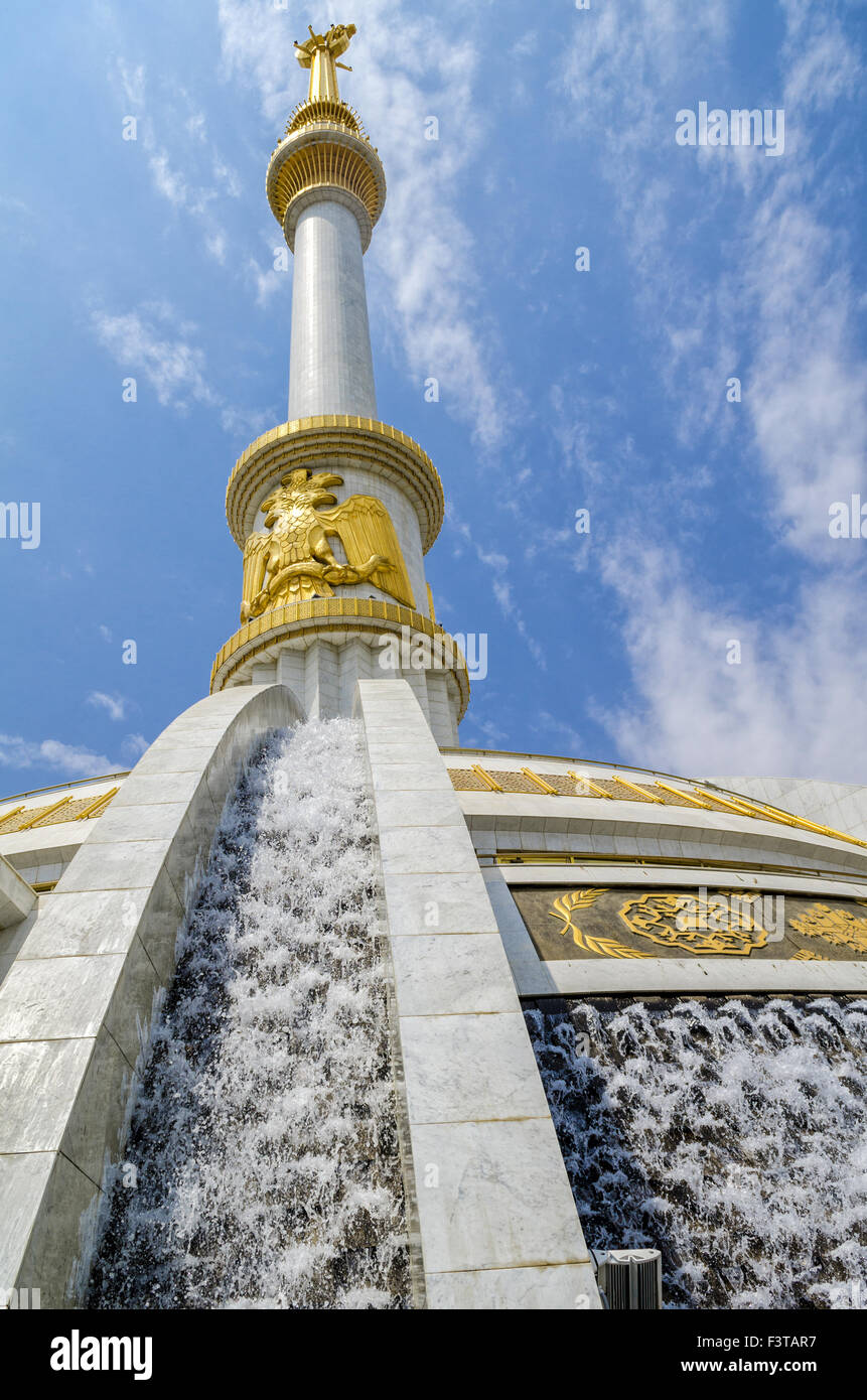 Monument to the Independence of Turkmenistan - Stock Image
