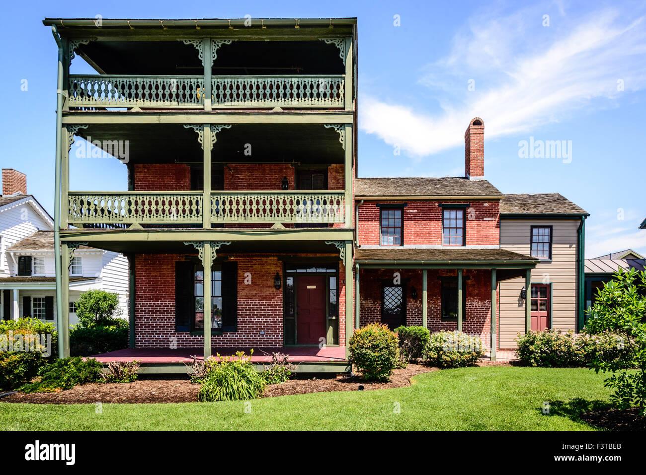 Dodson House, Navy Point Historic Houses, Chesapeake Bay Maritime Museum, St. Michaels, Maryland Stock Photo