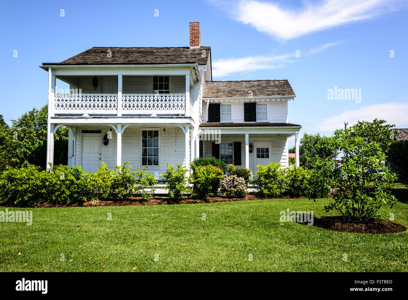 Higgins House, Navy Point Historic Houses, Chesapeake Bay Maritime Museum, St. Michaels, Maryland Stock Photo