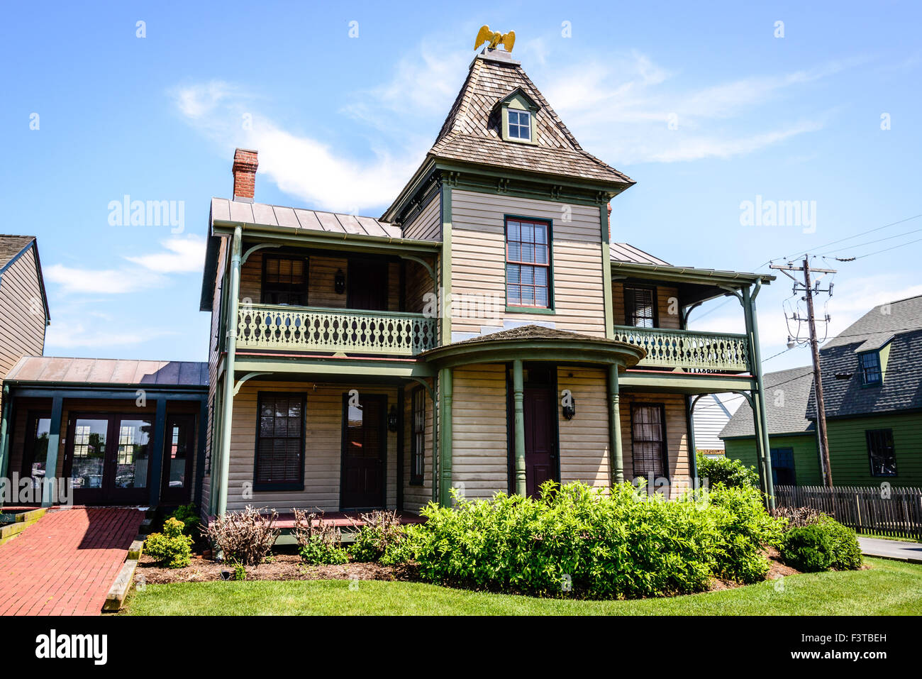Eagle House, Navy Point Historic Houses, Chesapeake Bay Maritime Museum, St. Michaels, Maryland Stock Photo