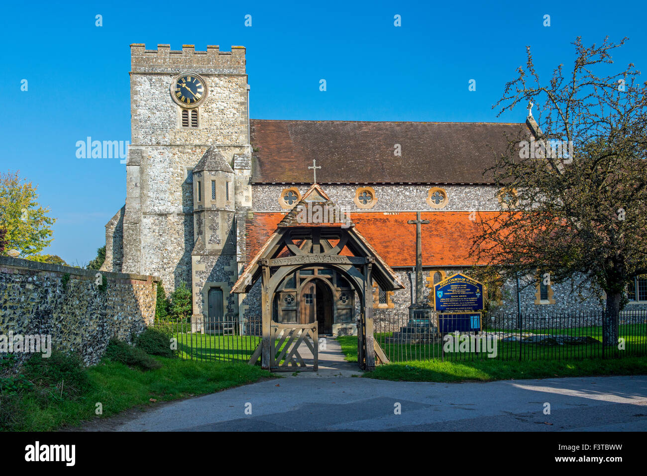 Parish Church of St. Mary in the village of Streatley, west Berkshire, England - Stock Image