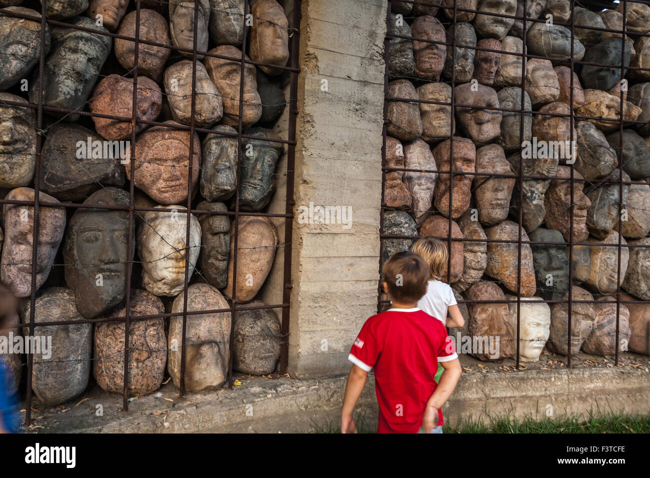 Moscow, Russia - September 25, 2015:  City artistic park Muzeon. Victims of totalitarian regime, author Chubarov. Stock Photo