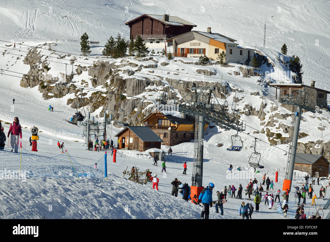 French ski resort Pierre Saint Martin - Stock Image
