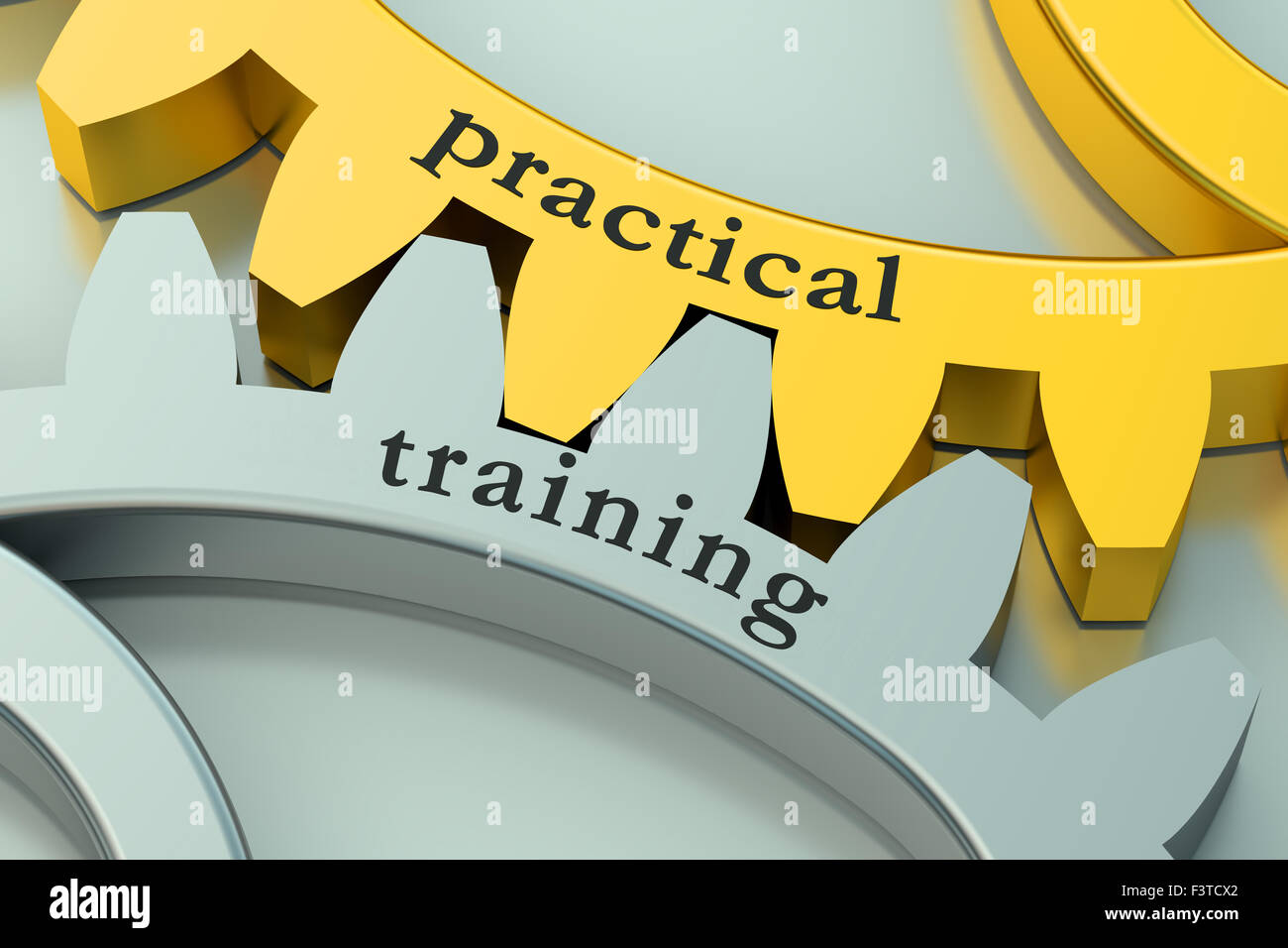 Practical Training concept on the gearwheels - Stock Image