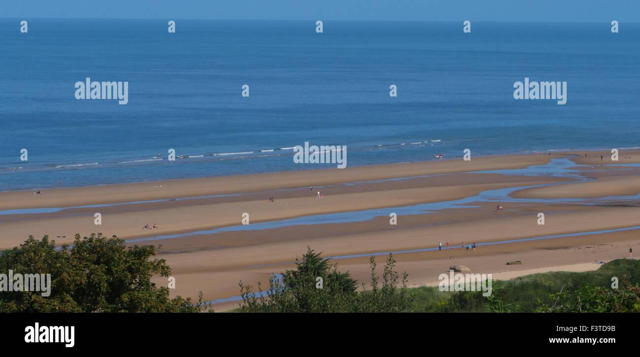 Omaha Beach .American D-DAY Landings beach 6th June 1944 .Normandy ,France - Stock Image