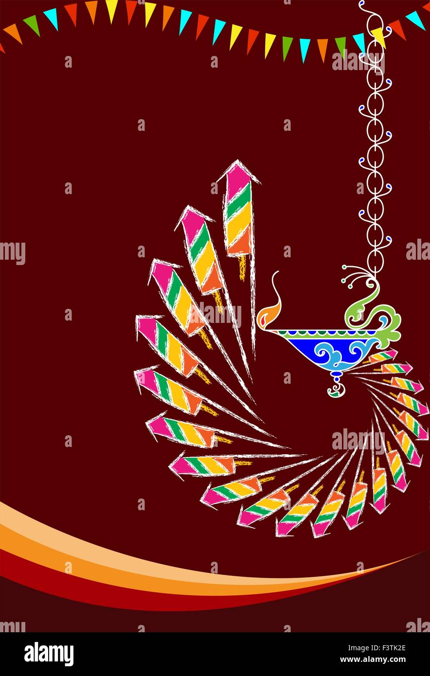 Artistic works stock vector images alamy diwali greeting fire works vector art stock vector m4hsunfo