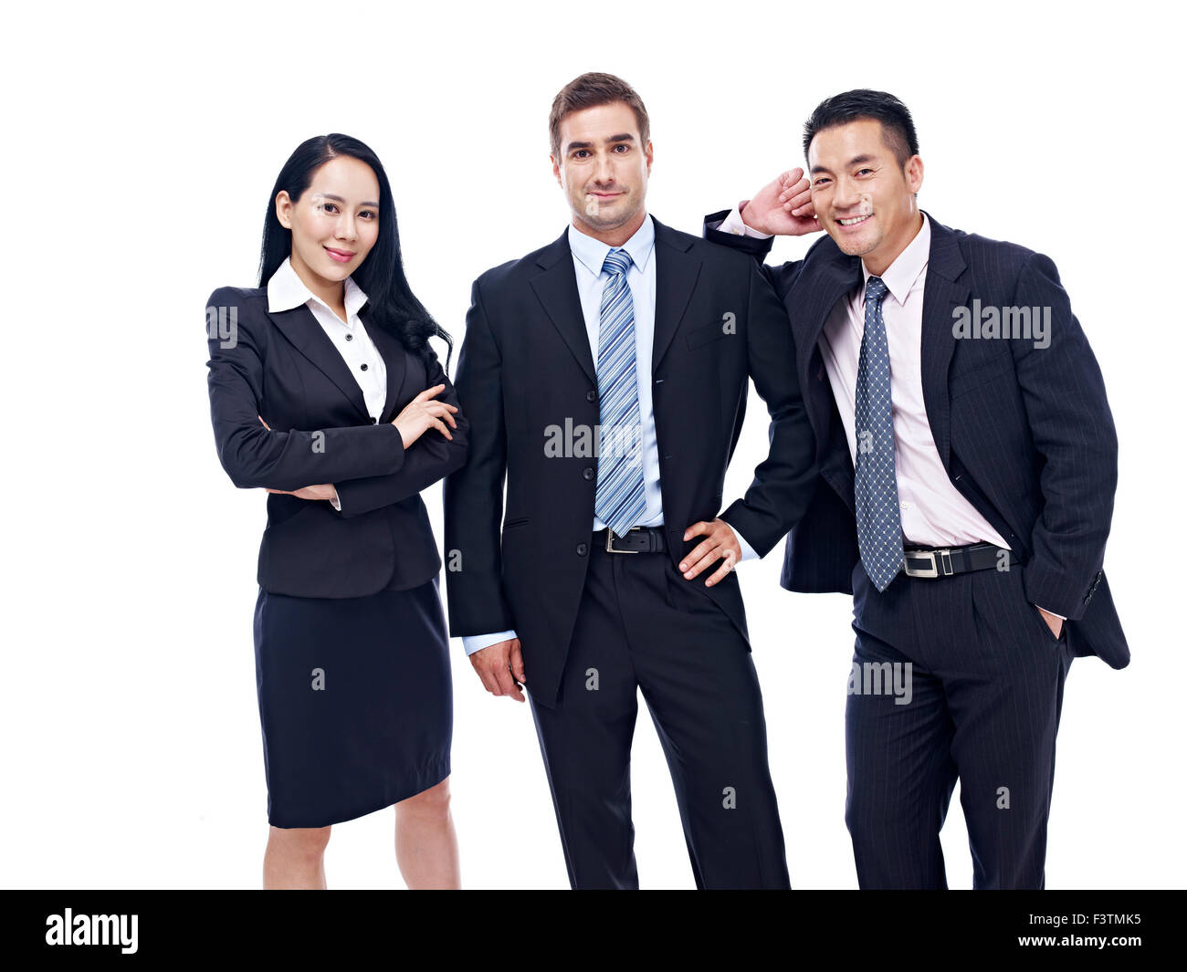 a multinational business team - Stock Image