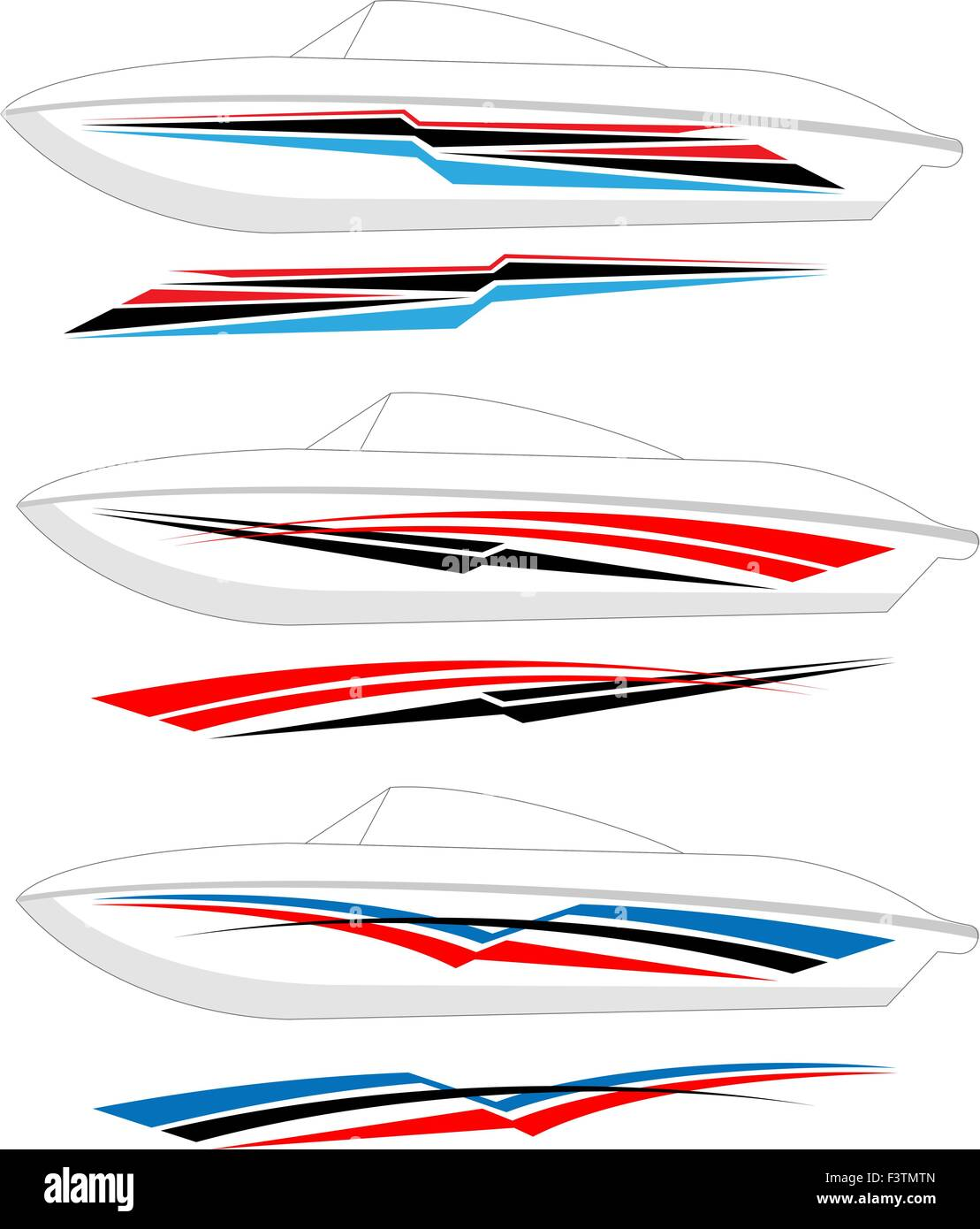 Boat graphics stripe vinyl ready vector art stock image