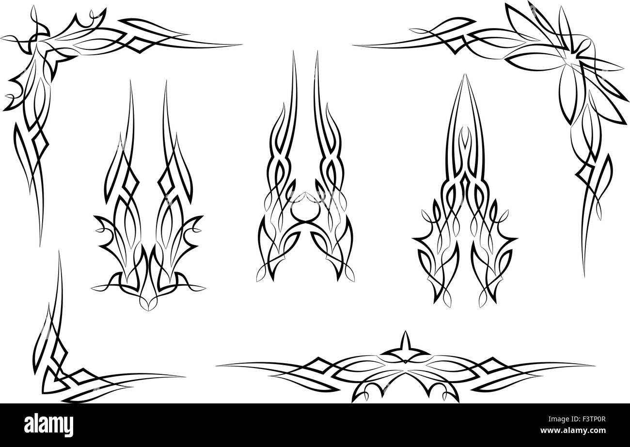 pinstripe graphics corner border vinyl ready vector art stock rh alamy com pinstripe vector eps pinstripe vector pattern