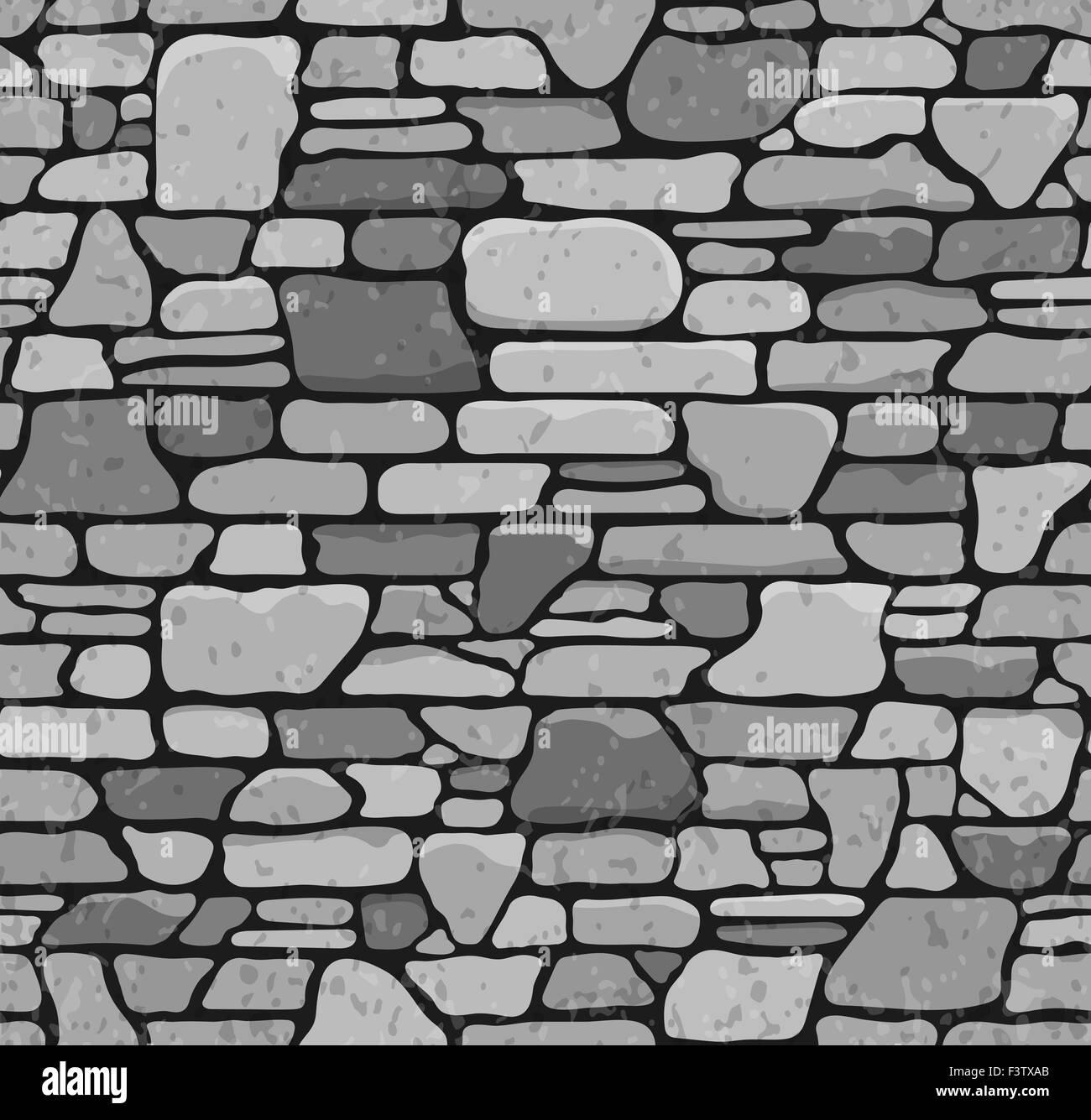 . Seamless Grunge Stone Brick Wall Texture  Illustration Stock Photo
