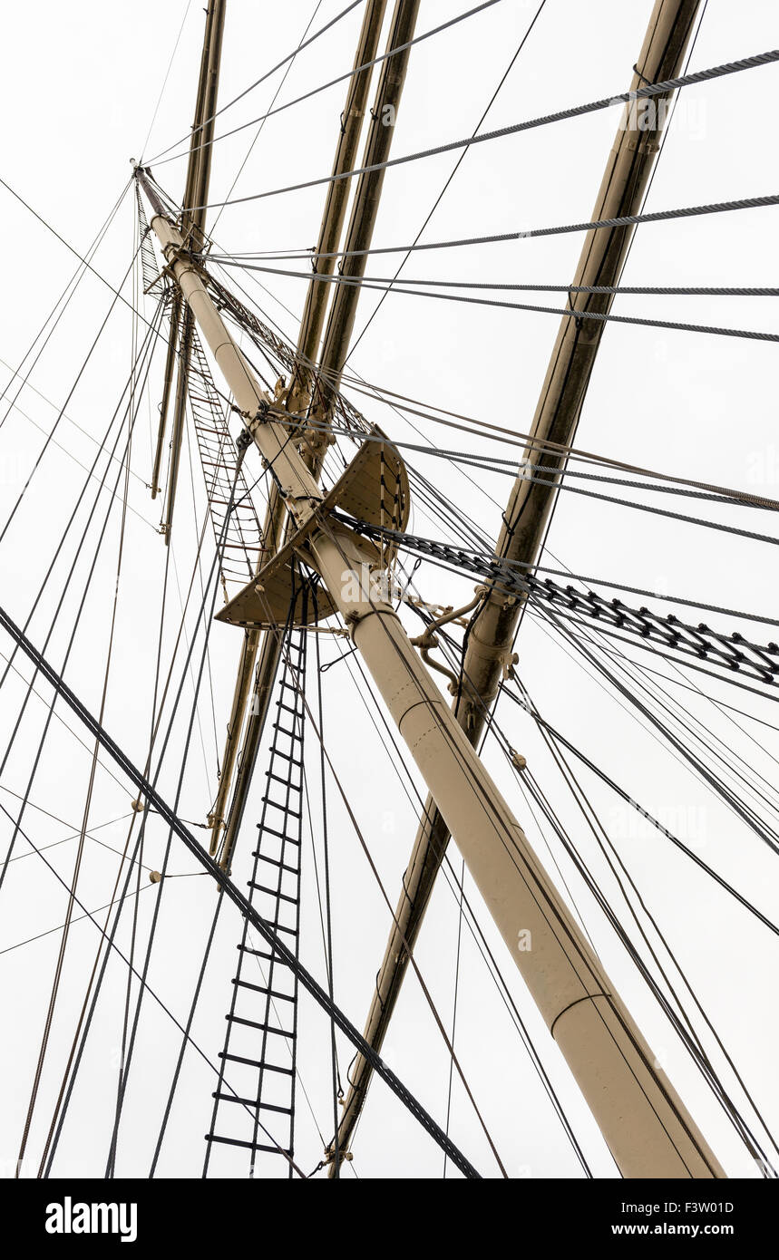 Rig on the Pommern sailing-ship - Stock Image