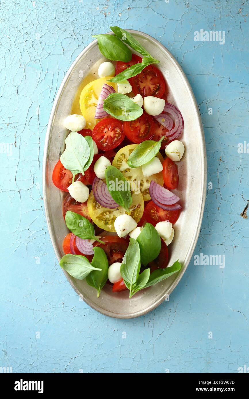caprese salad - Stock Image